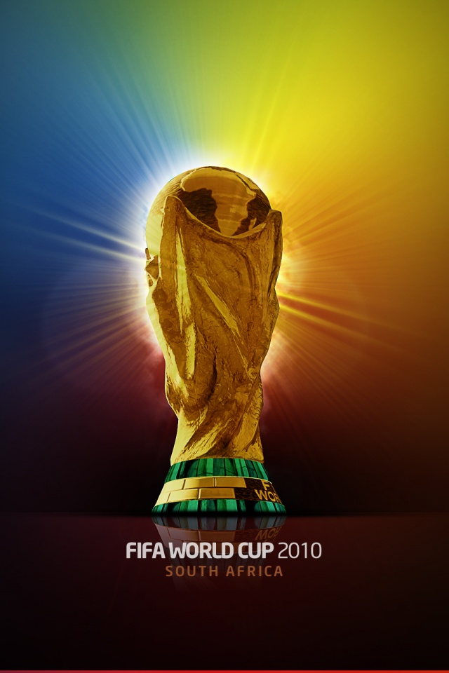 640x960 Fifa World Cup 2010 Trophy Iphone 4 Wallpaper