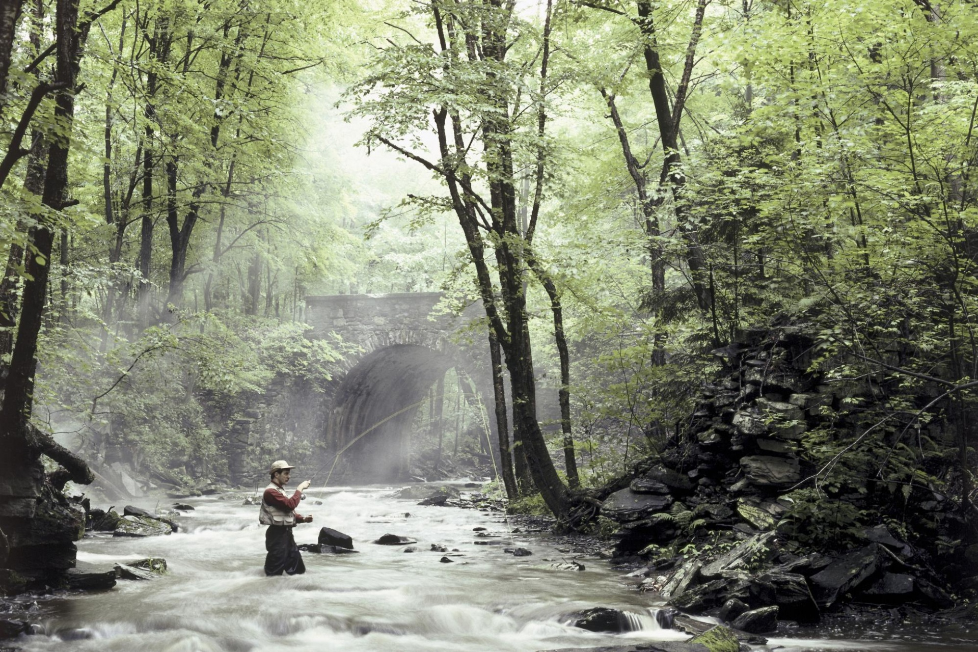 fishing in the river wallpapers