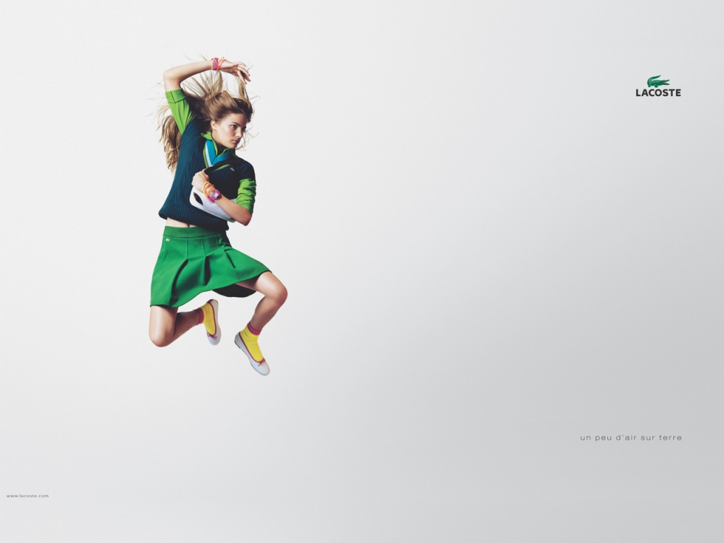 1024x768 Fly woman LACOSTE desktop wallpapers and stock photos