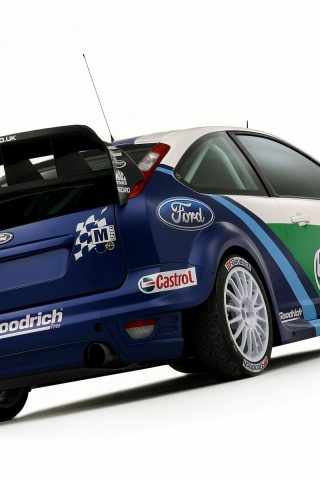 320x480 Ford Focus RS rally Iphone 3g wallpaper高清图片