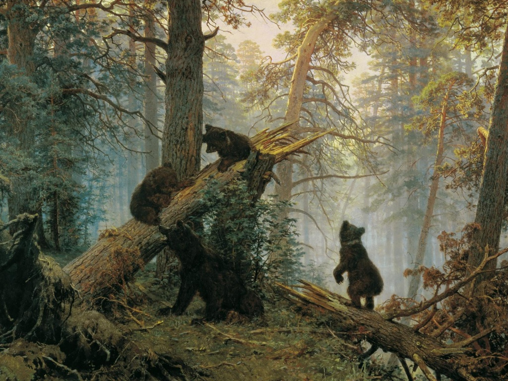 920x520 Forest Bear Cute Kids Slope