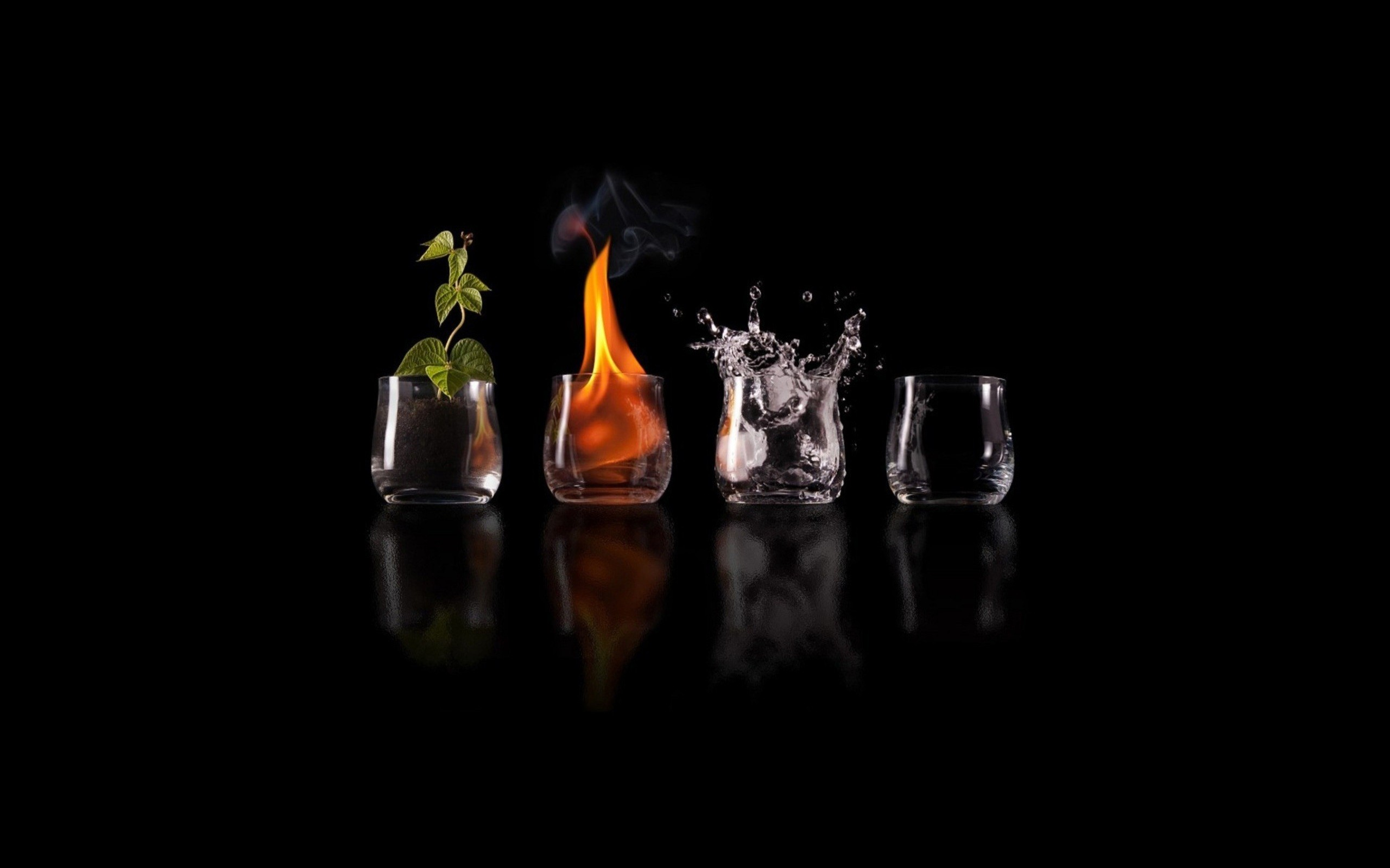 2560x1600 Four Elements Glasses