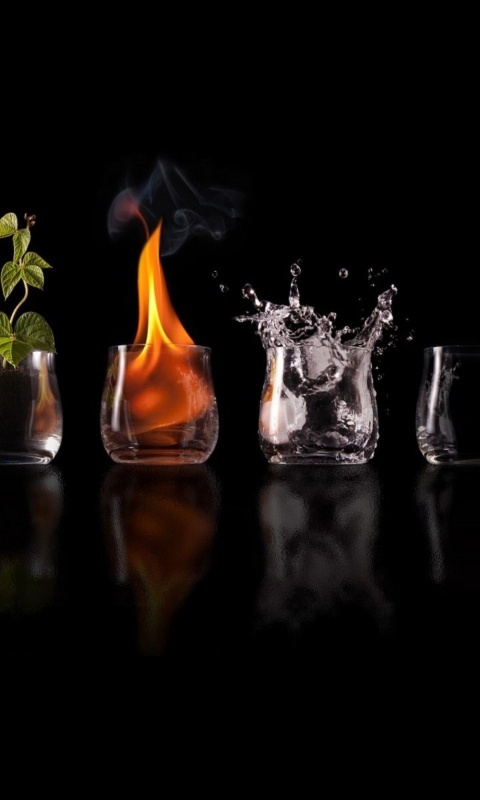 480x800 Four Elements Glasses
