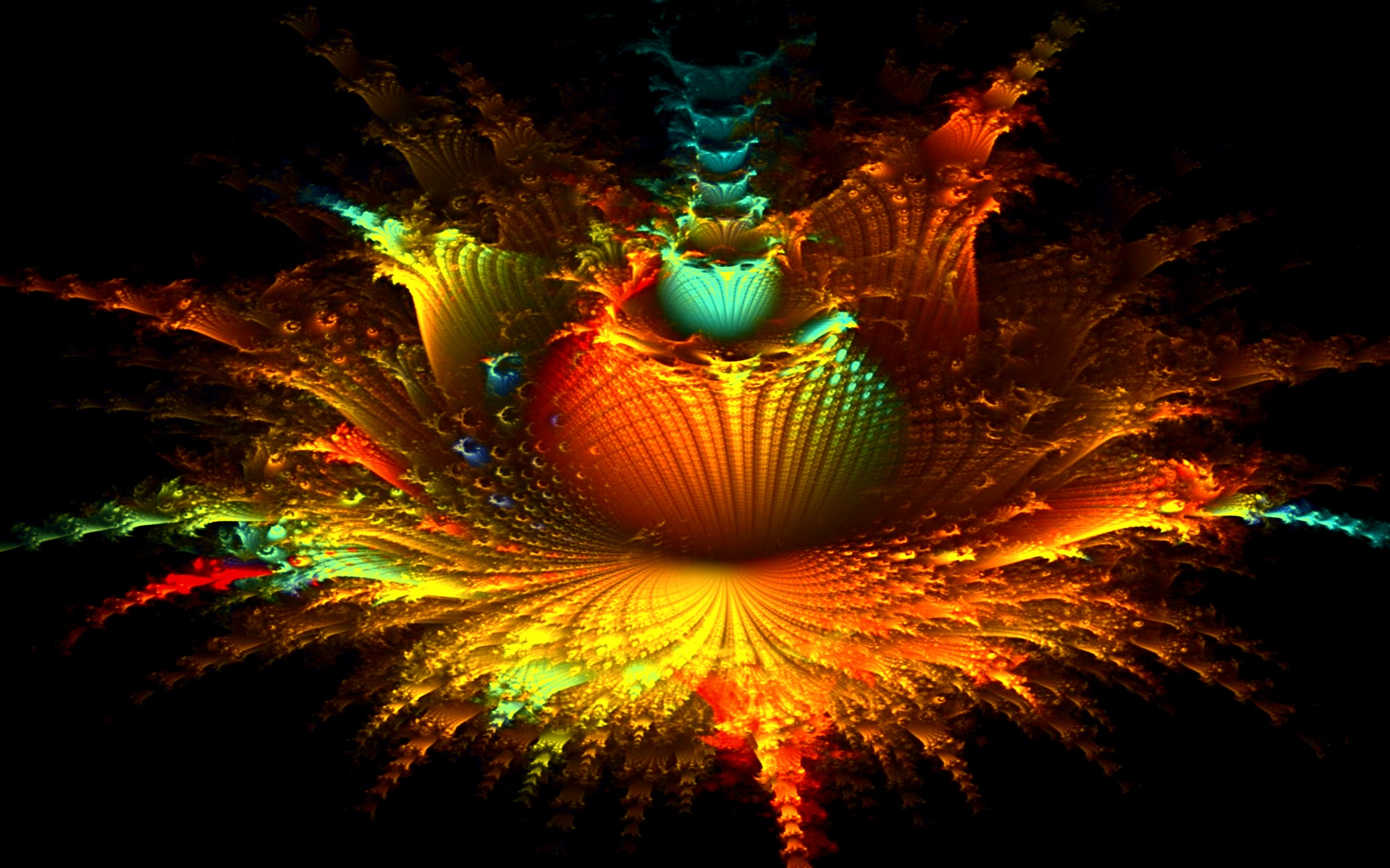 Free Hd Wallpapers Widescreen Monitor Artworks Stock: Fractal Floral Explosion Wallpapers