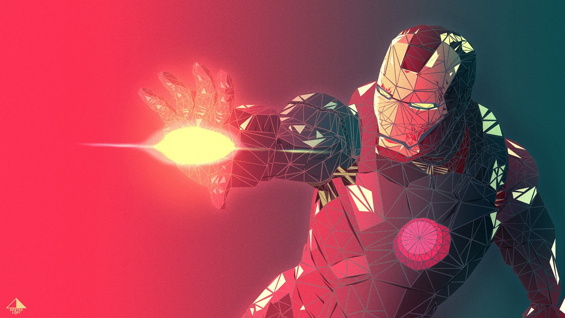 1920x1080 Fractal Iron Man 3d Render Desktop Pc And Mac Wallpaper