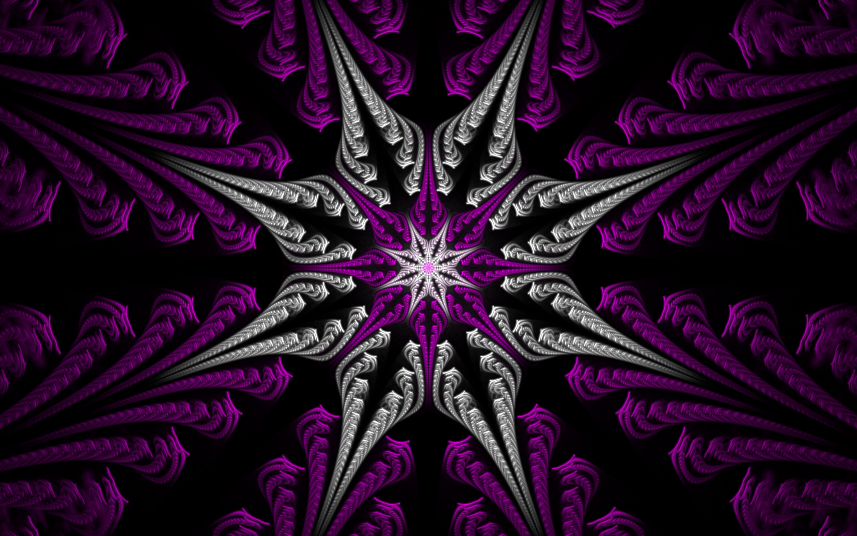 fractal star purple amp silver wallpapers fractal star