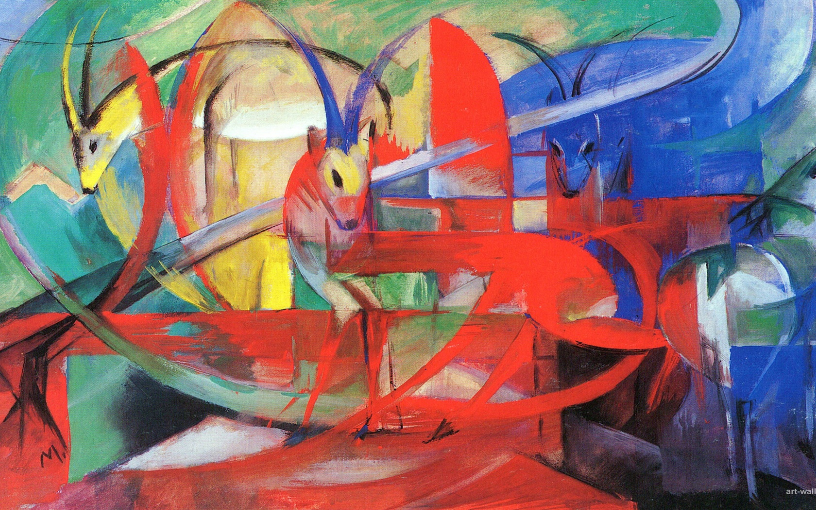 1680x1050 Franz Marc, art,  painting, artist
