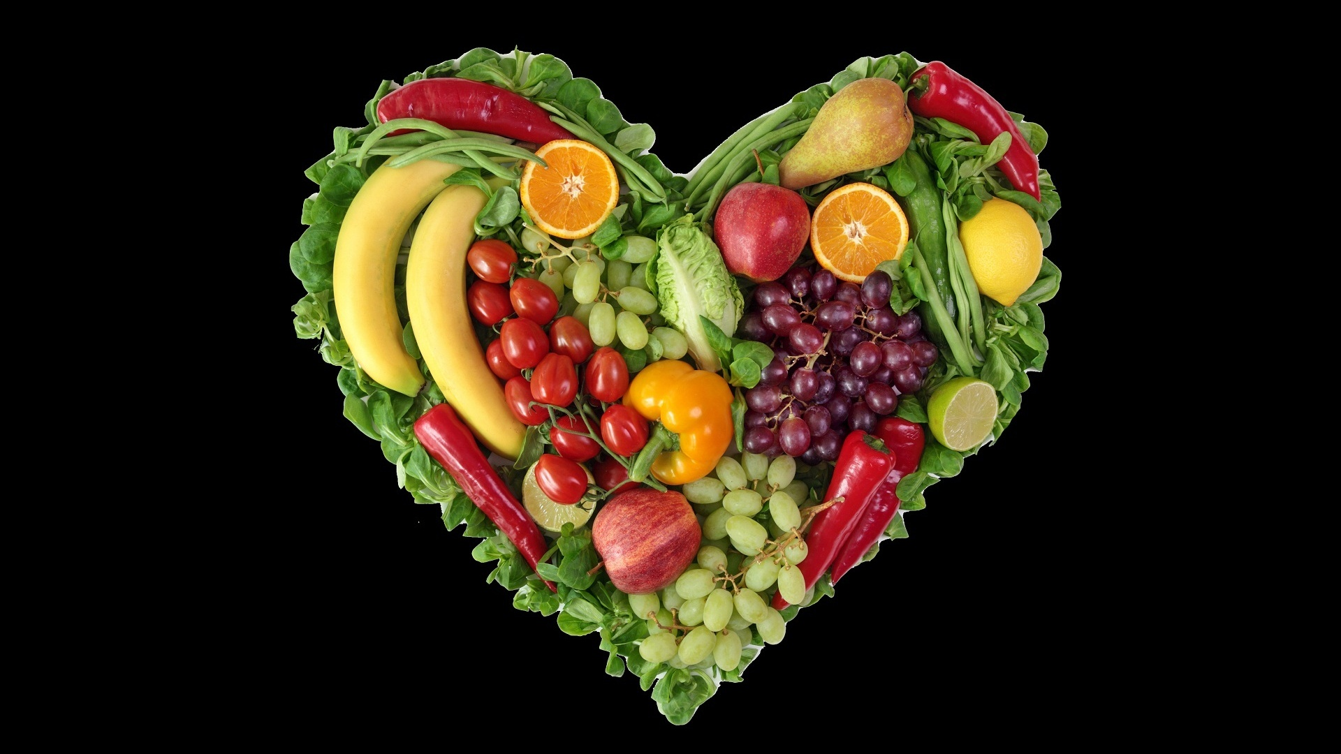 1920x1080 Fruit & Vegetable Heart desktop PC and Mac wallpaper