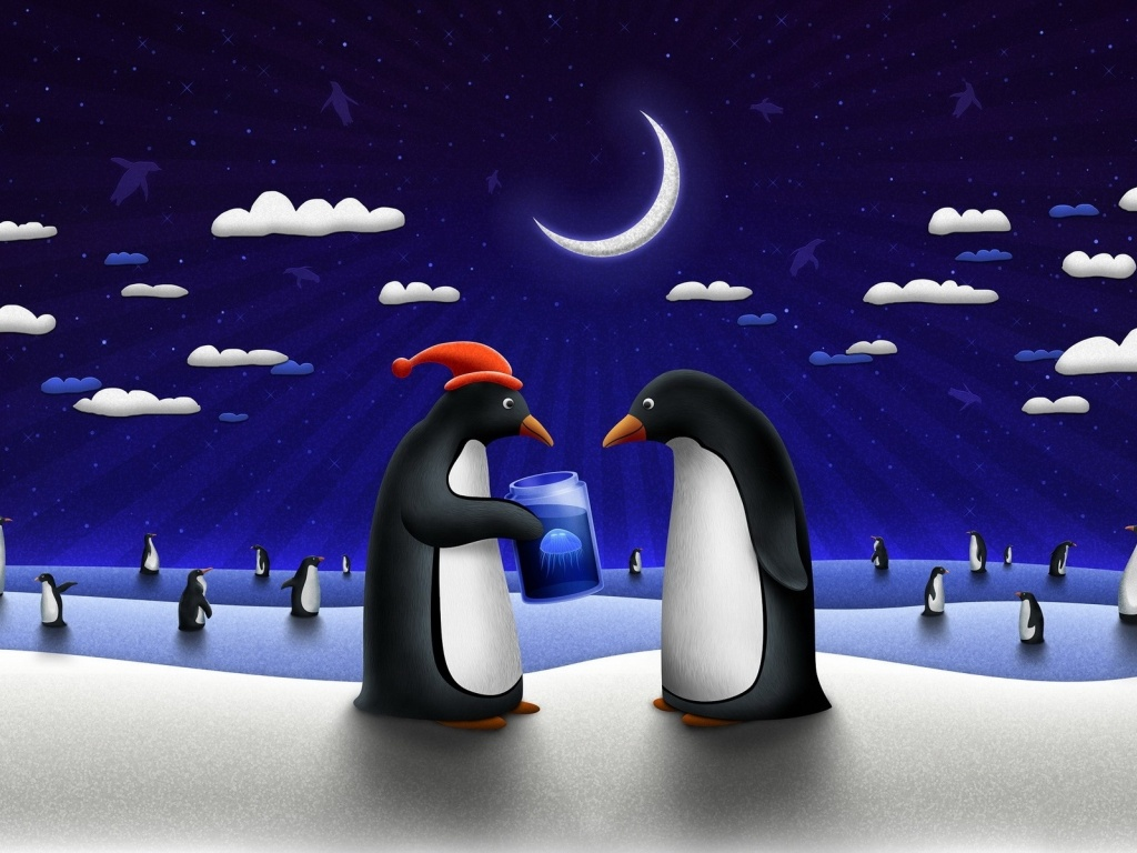 920x520 Funny Penguins