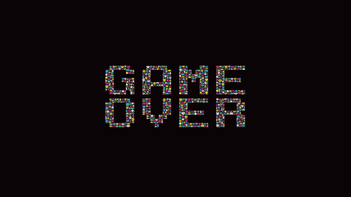 1366x768 game over poster desktop pc and mac wallpaper