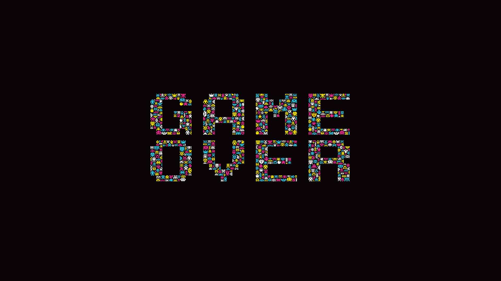1920x1080 Game Over Poster Desktop PC And Mac Wallpaper