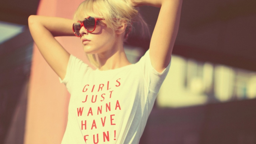 825x315 Girls Just Wanna Have Fun Facebook Cover Photo