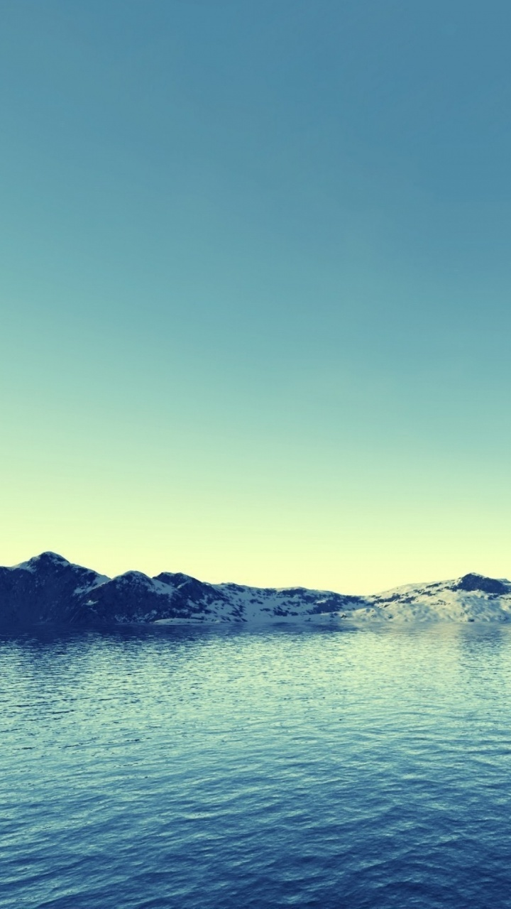 720x1280 Gleaming Lake Amp Snow Mountains Galaxy S3 Wallpaper