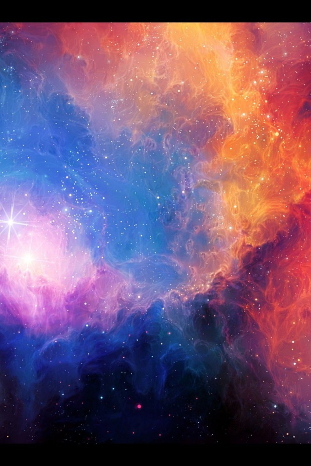nebula wallpaper iphone