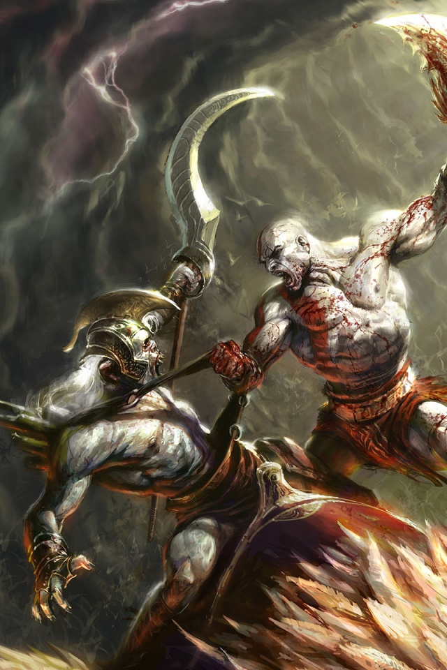 640x960 God Of War 2 Iphone 4 Wallpaper