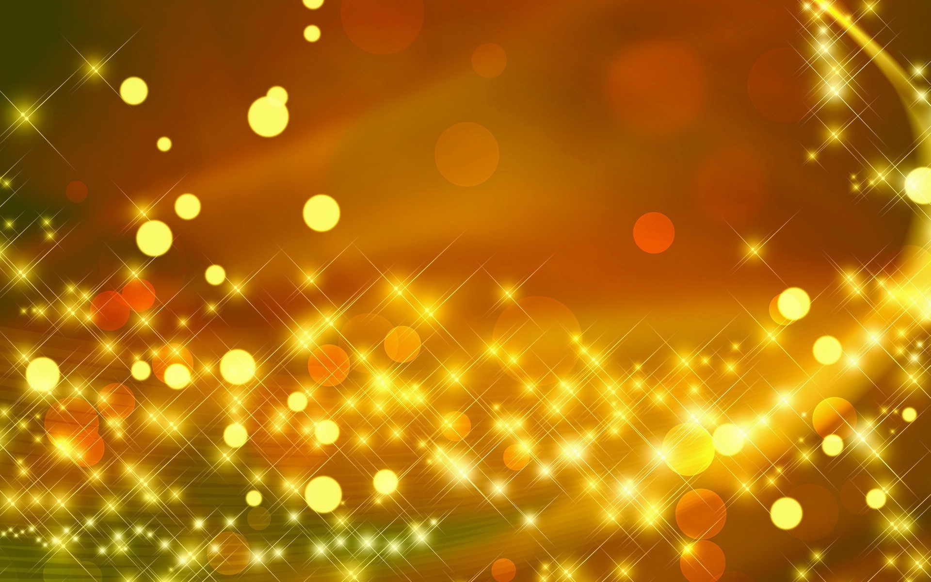 Golden Sparkles Light Circle Abstract Wallpapers Golden