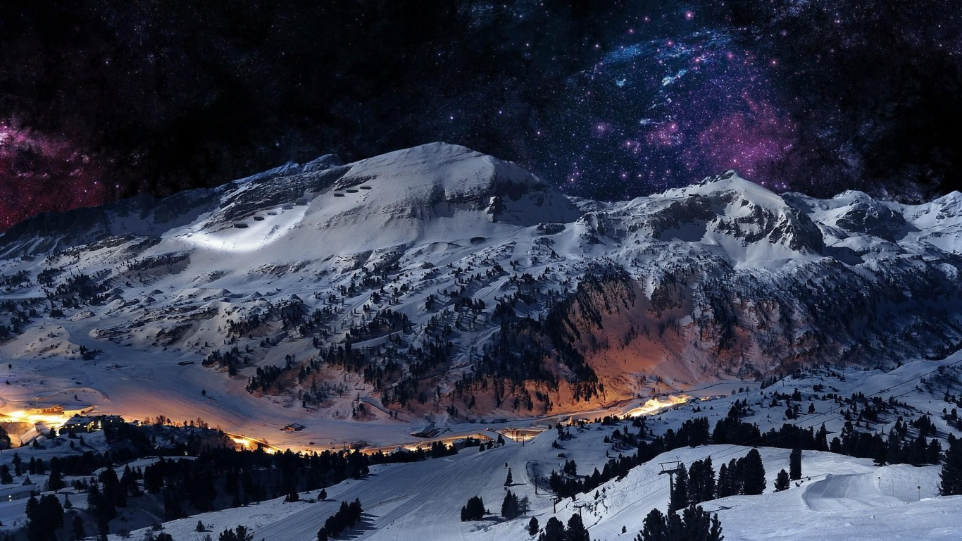 Top Wallpaper Mac Mountain - graceful-winter-mountain-night_wallpapers_48473_1366x768  HD_274156.jpg
