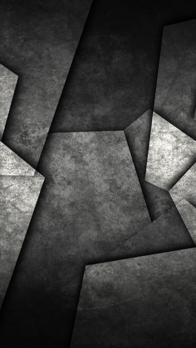 640x1136 granite tiles iphone 5 wallpaper for Black 3d tiles wallpaper