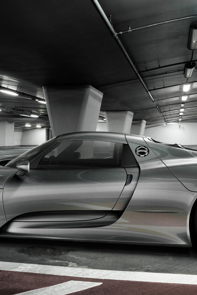 640x960 gray porsche 918 spyder iphone 4 wallpaper. Black Bedroom Furniture Sets. Home Design Ideas