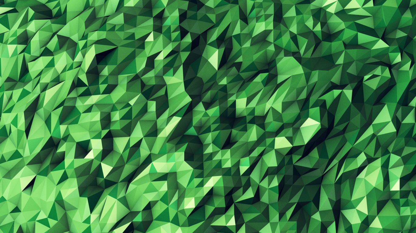 1366x768 Green Abstract Geometric Shapes Desktop Pc And