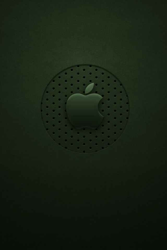 640x960 Green Apple Logo Iphone 4 Wallpaper