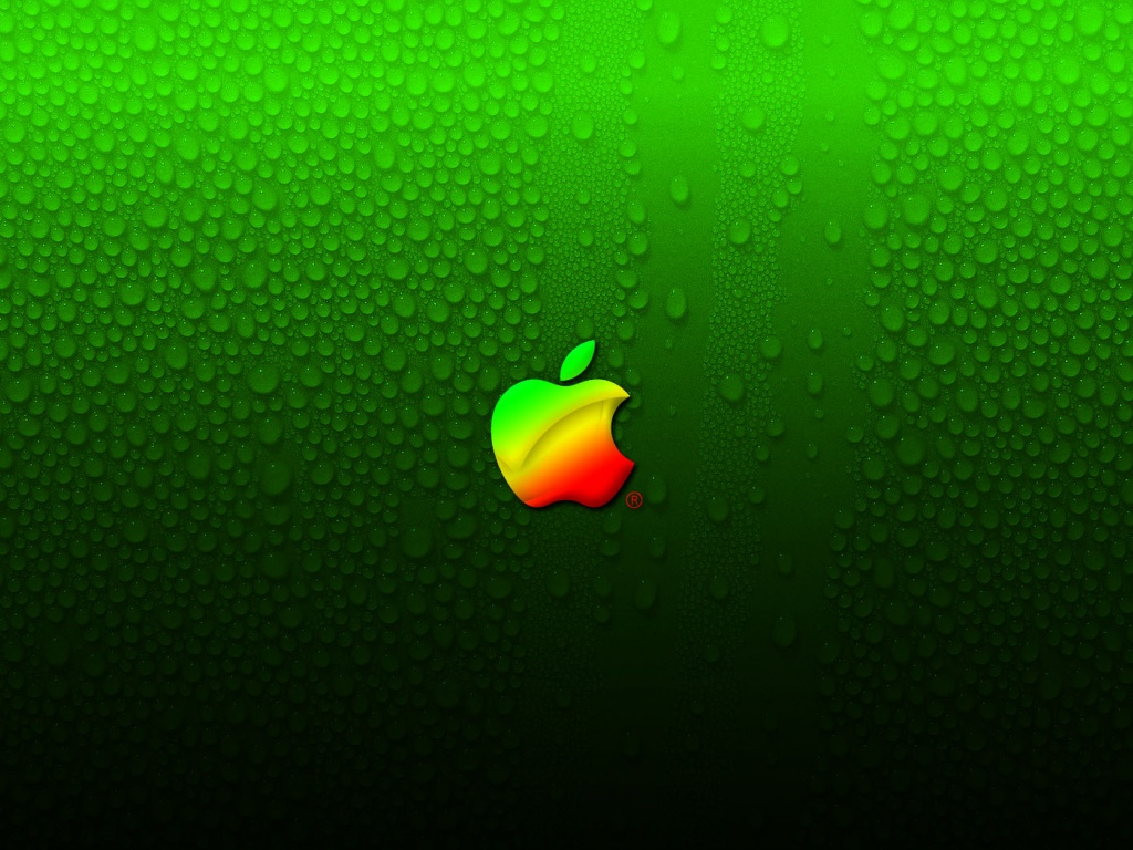 Neon Green Apple Logo
