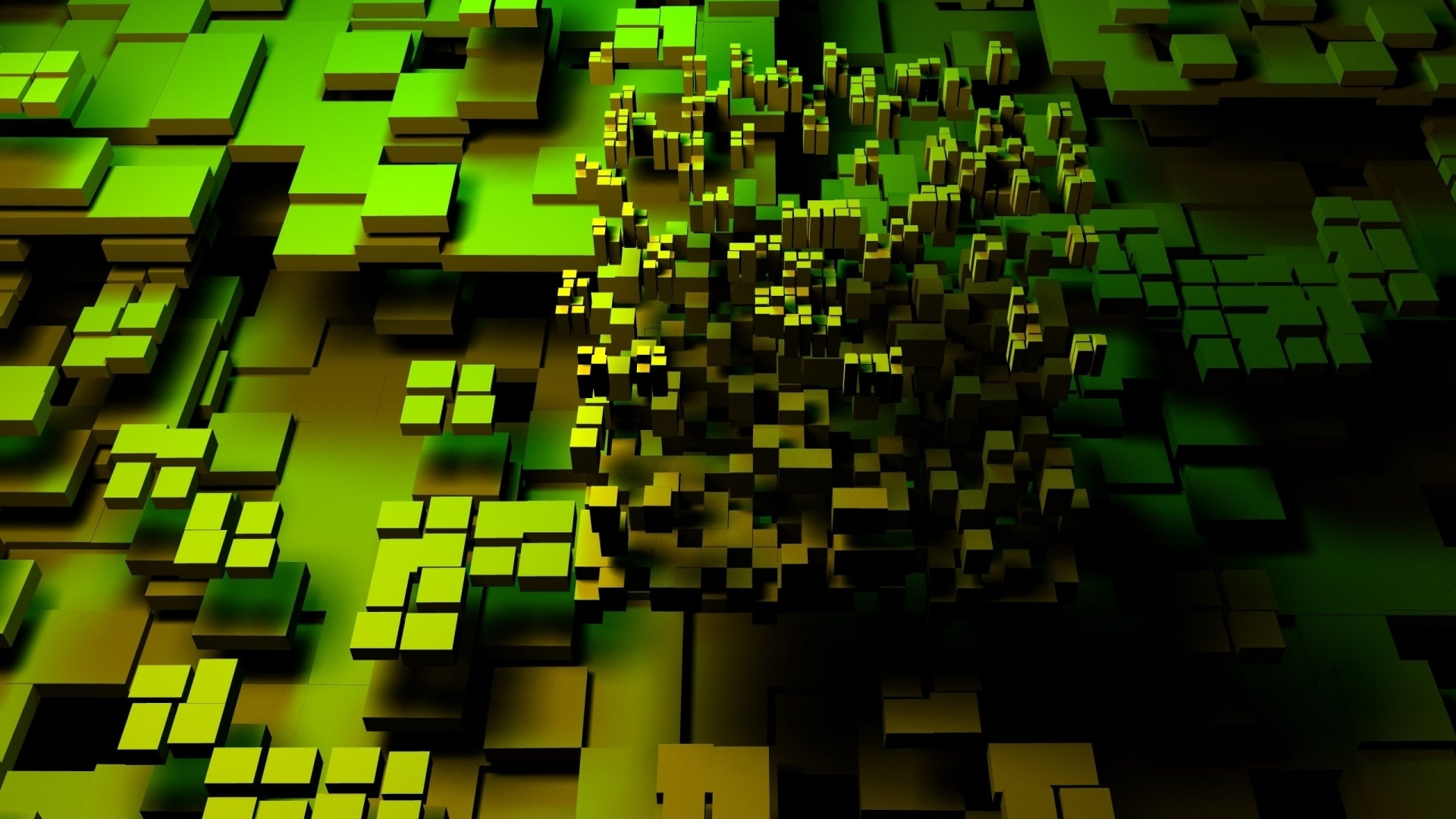 1920x1080 Green Cubes Multi Color Desktop Pc And Mac Wallpaper