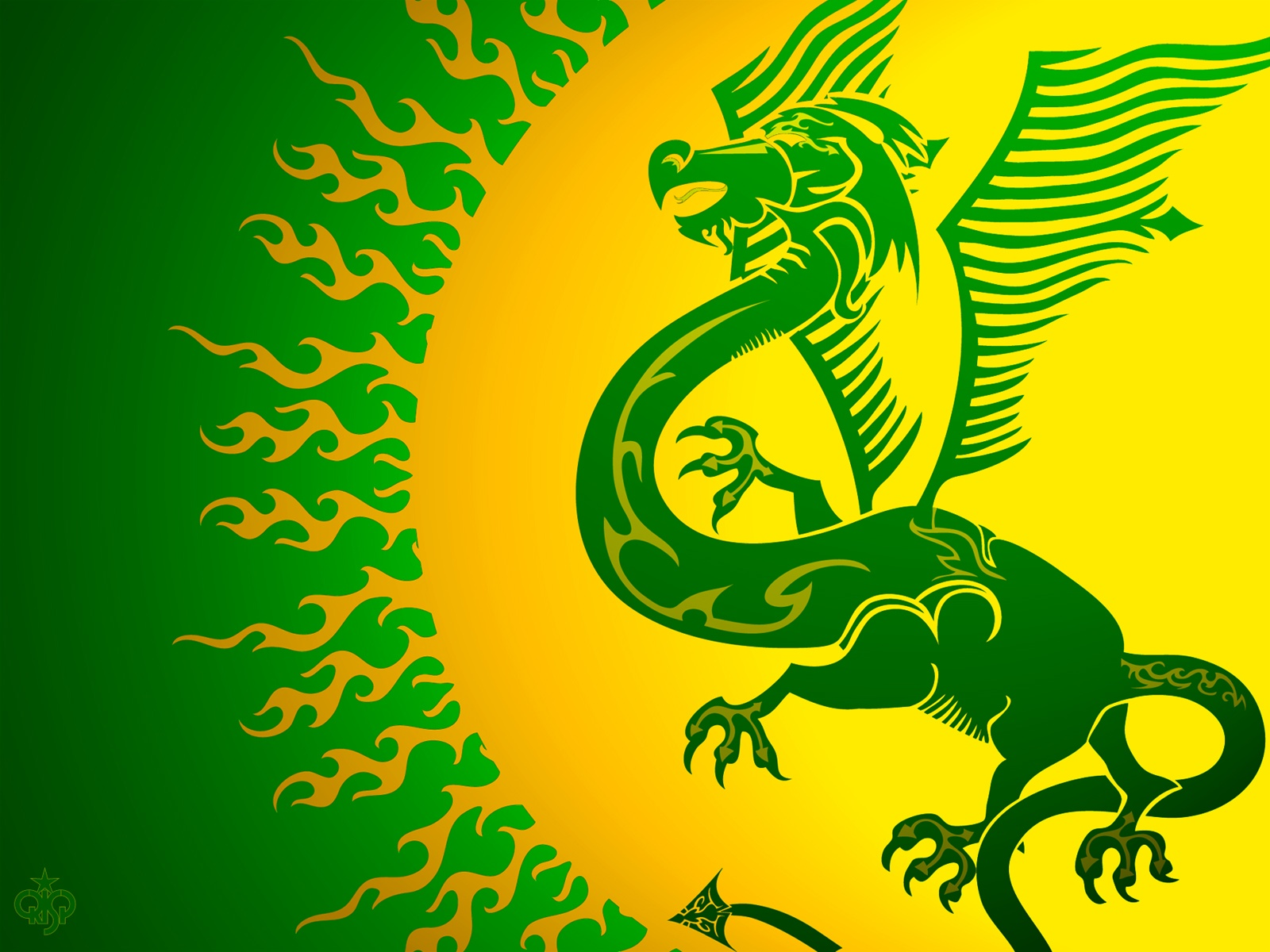 1600x1200 Green Dragon Desktop PC And Mac Wallpaper