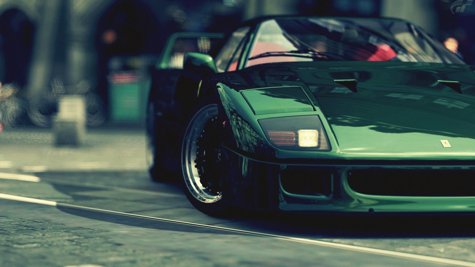 wallpaper green ferrari cars - photo #32