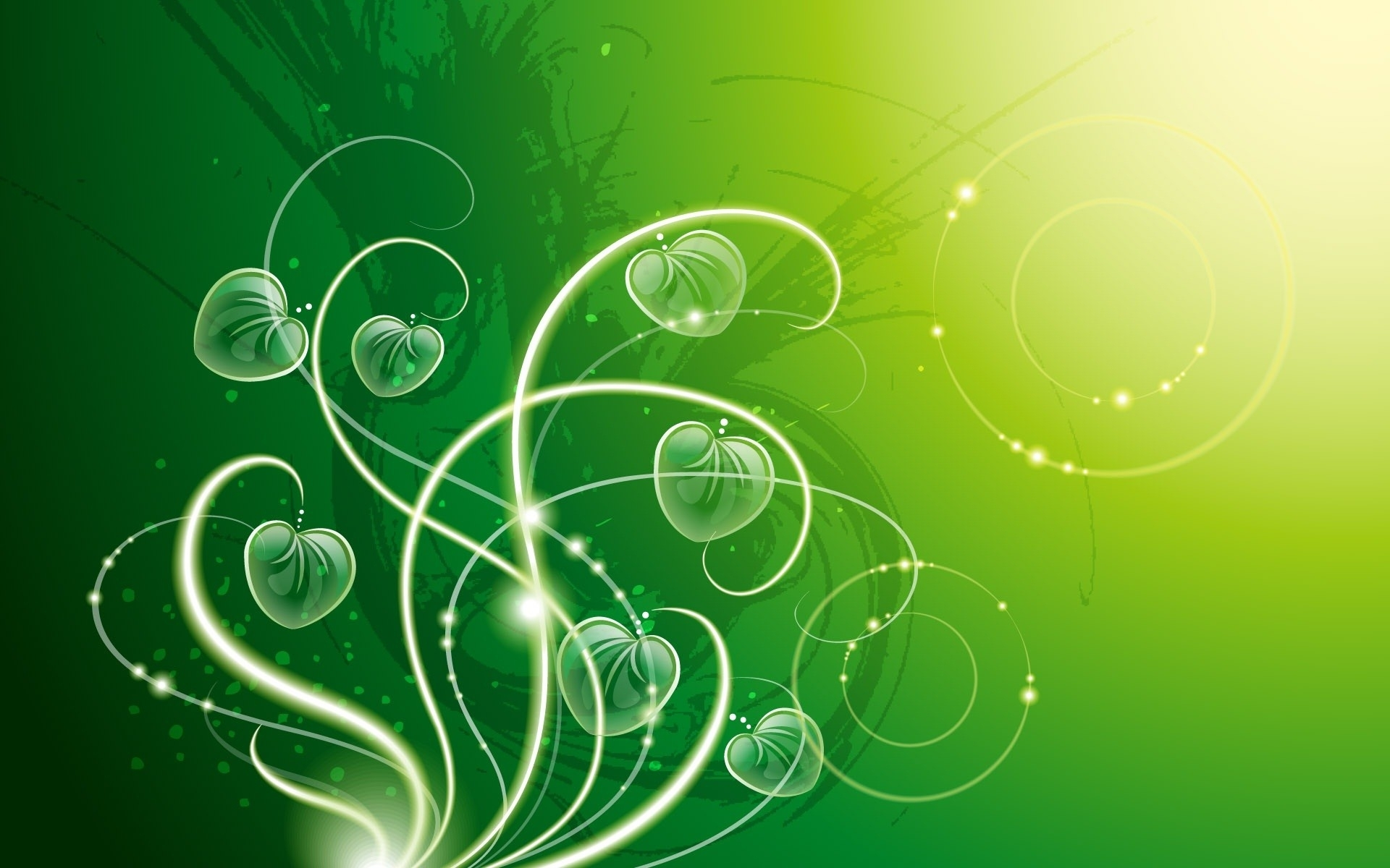 green hearts background - photo #36