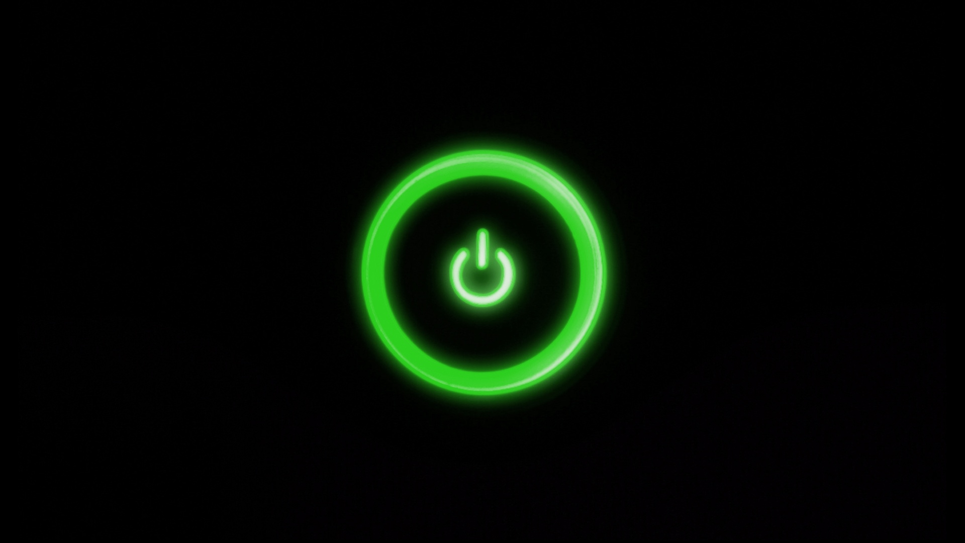 1920x1080 Green Power Button