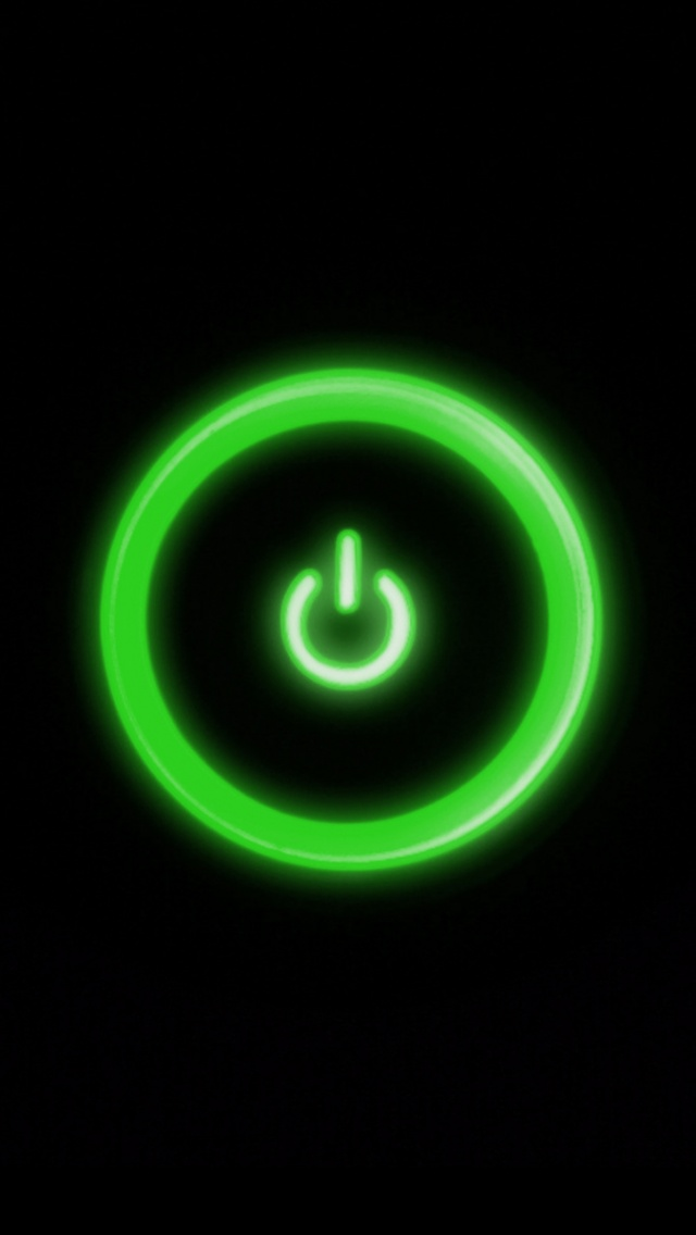 640x1136 Green Power Button Iphone 5 Wallpaper