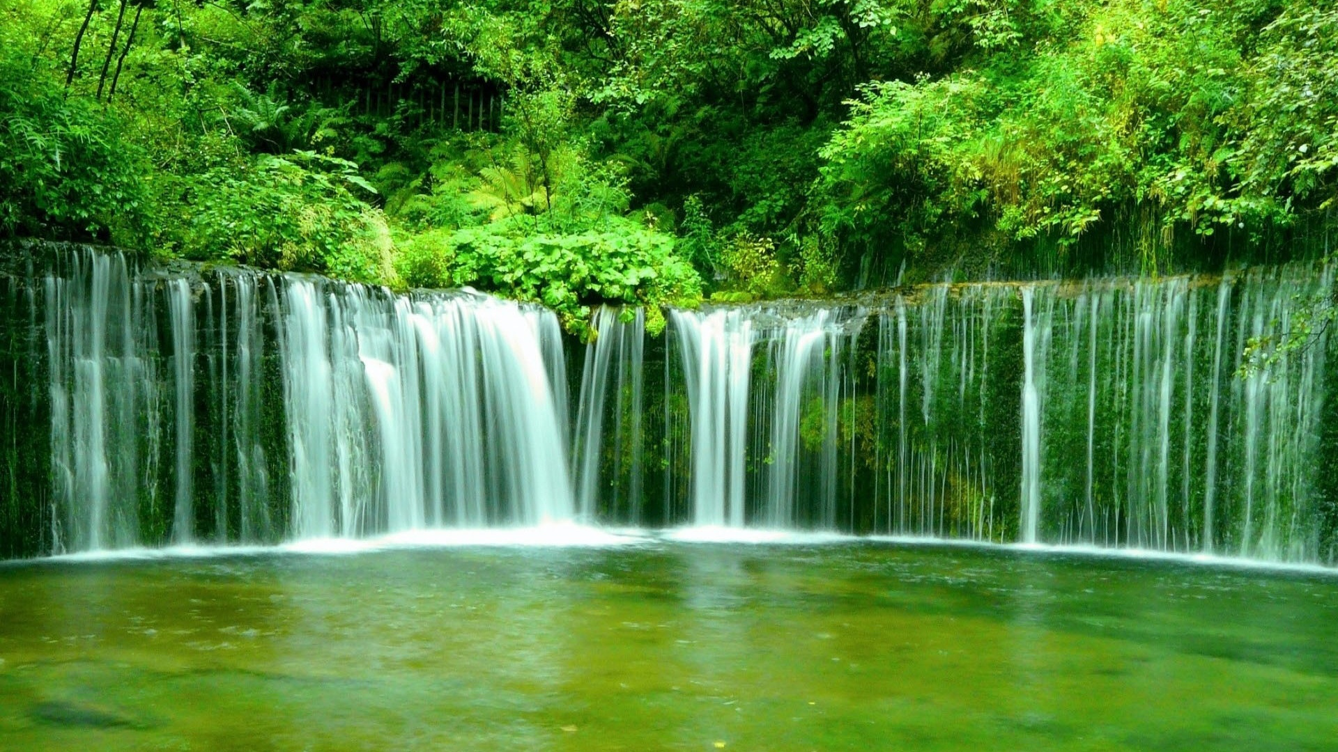 1920x1080 Hd Wallpapers Waterfall: 1920x1080 Green Waterfall Desktop PC And Mac Wallpaper