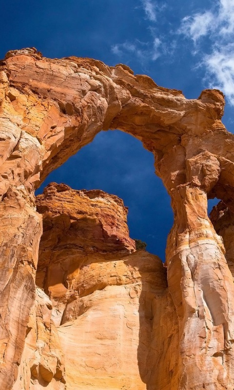 480x800 Grosvenor Arch, Utah, grand staircase-escalante, national monument, usa, nature