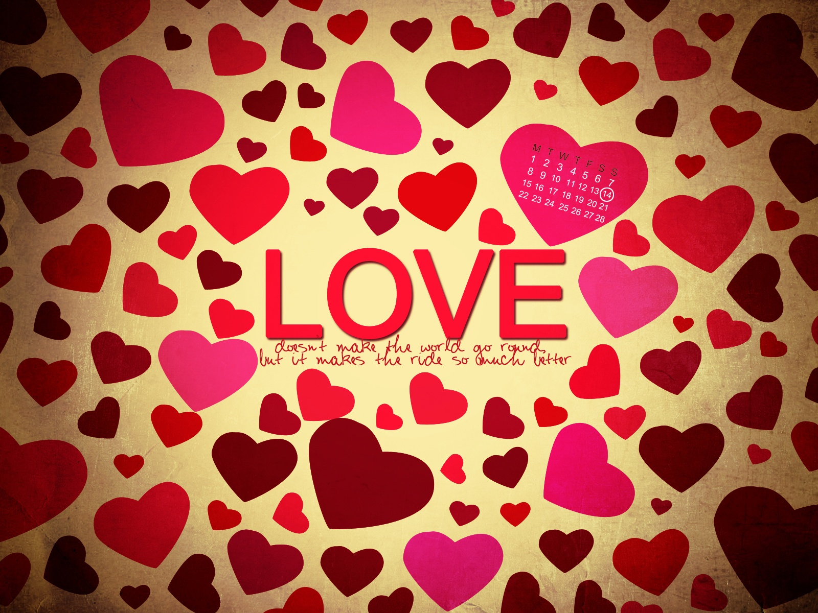 1600x1200 Grunge Love Hearts How To Set Wallpaper
