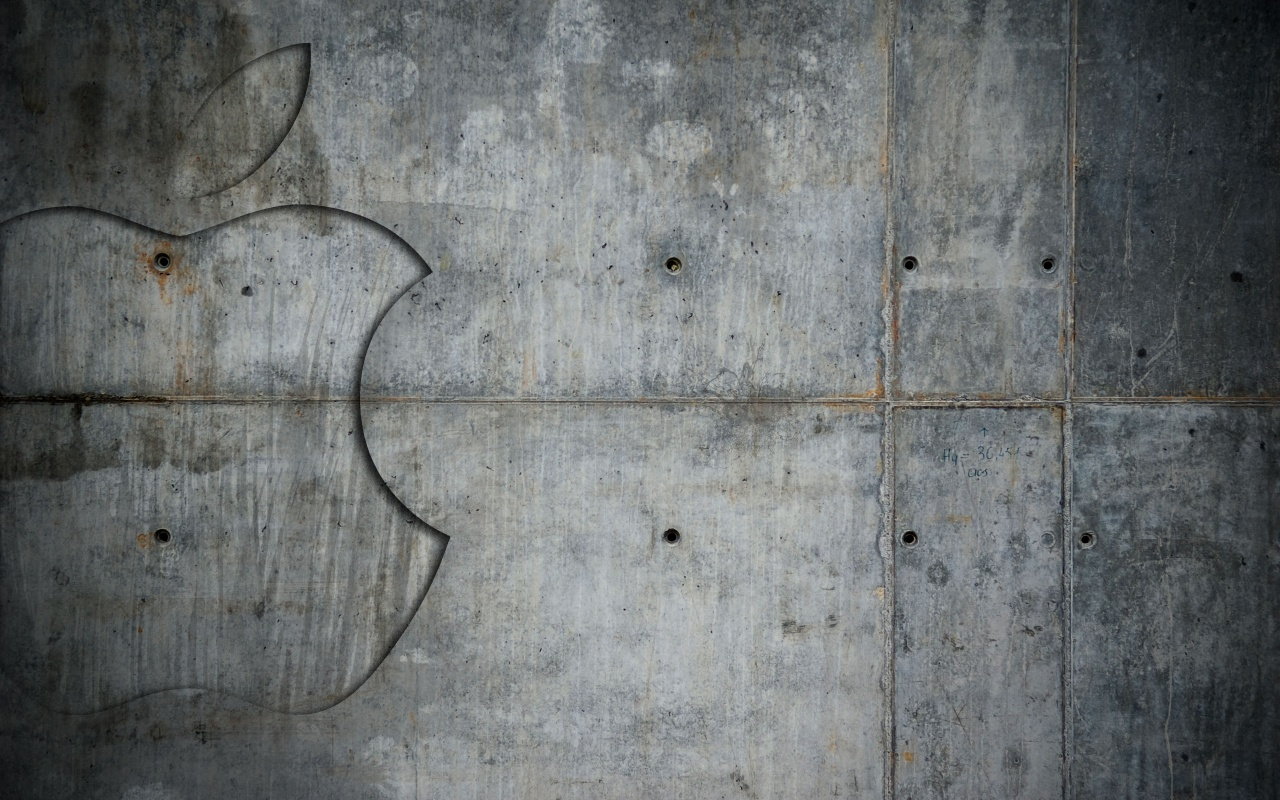 1280x800 Grunge Metal Apple