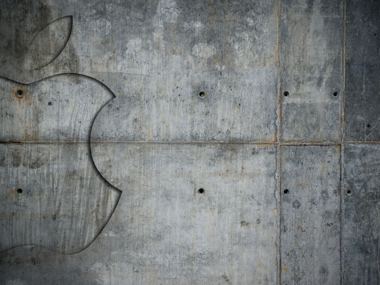 1280x960 Grunge Metal Apple