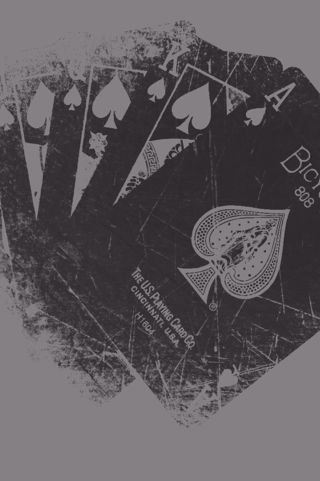 640x960 Grunge Playing Cards Iphone 4 wallpaper
