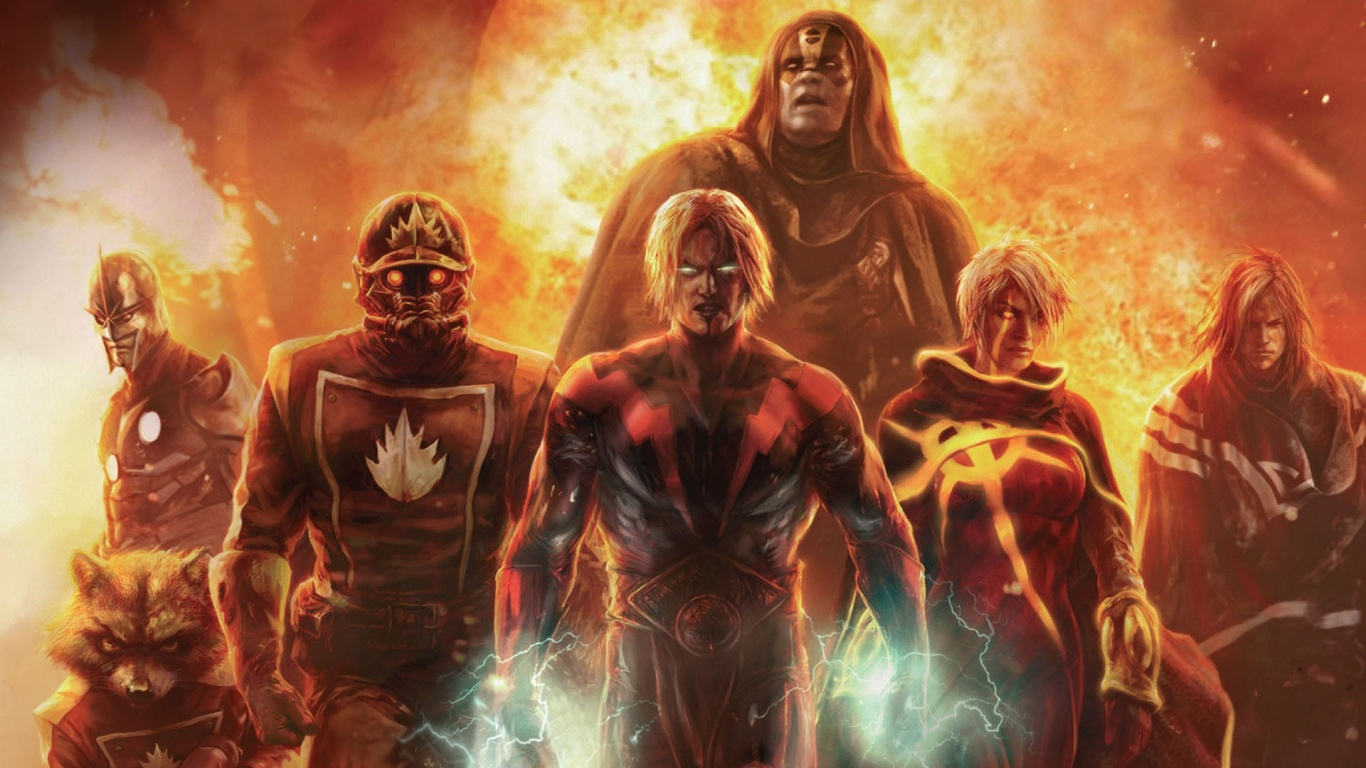 1366x768 Guardians Of The Galaxy Illustration Desktop Pc And Mac