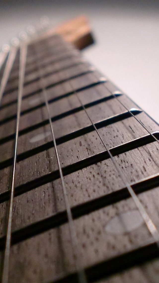 640x1136 Guitar Strings Close Up Iphone 5 Wallpaper