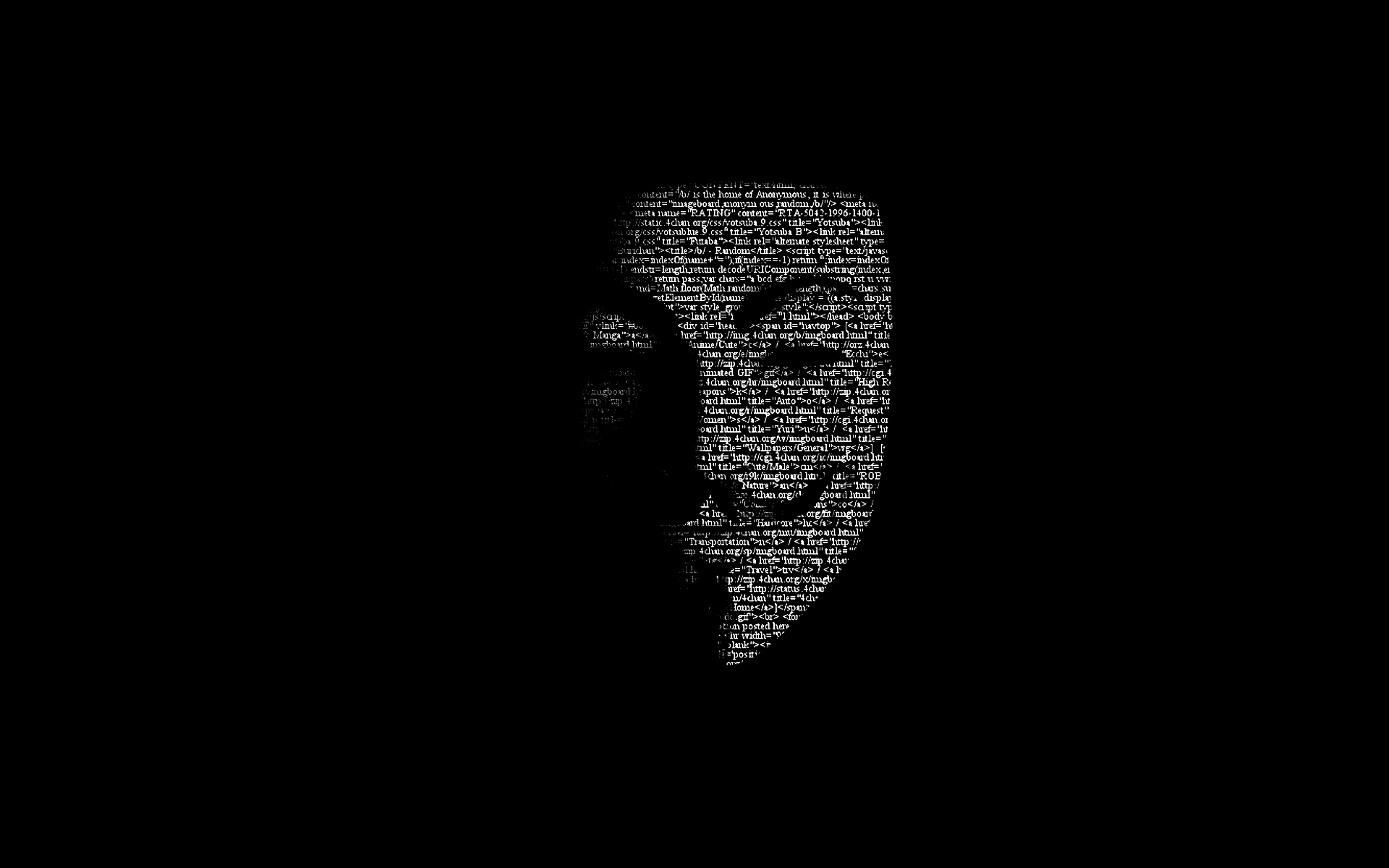 1920x1200 Guy Fawkes Mask Code desktop PC and Mac wallpaper