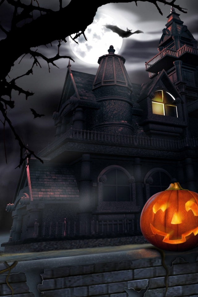 640x960 Halloween  house, haunted