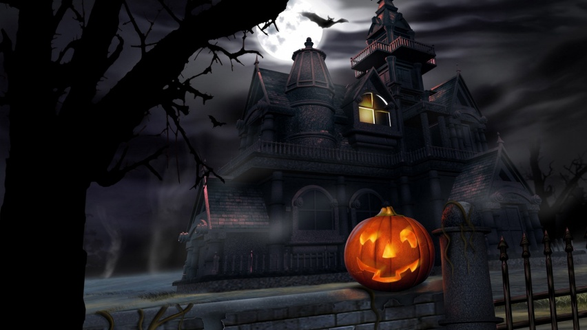 646x220 Halloween  house, haunted