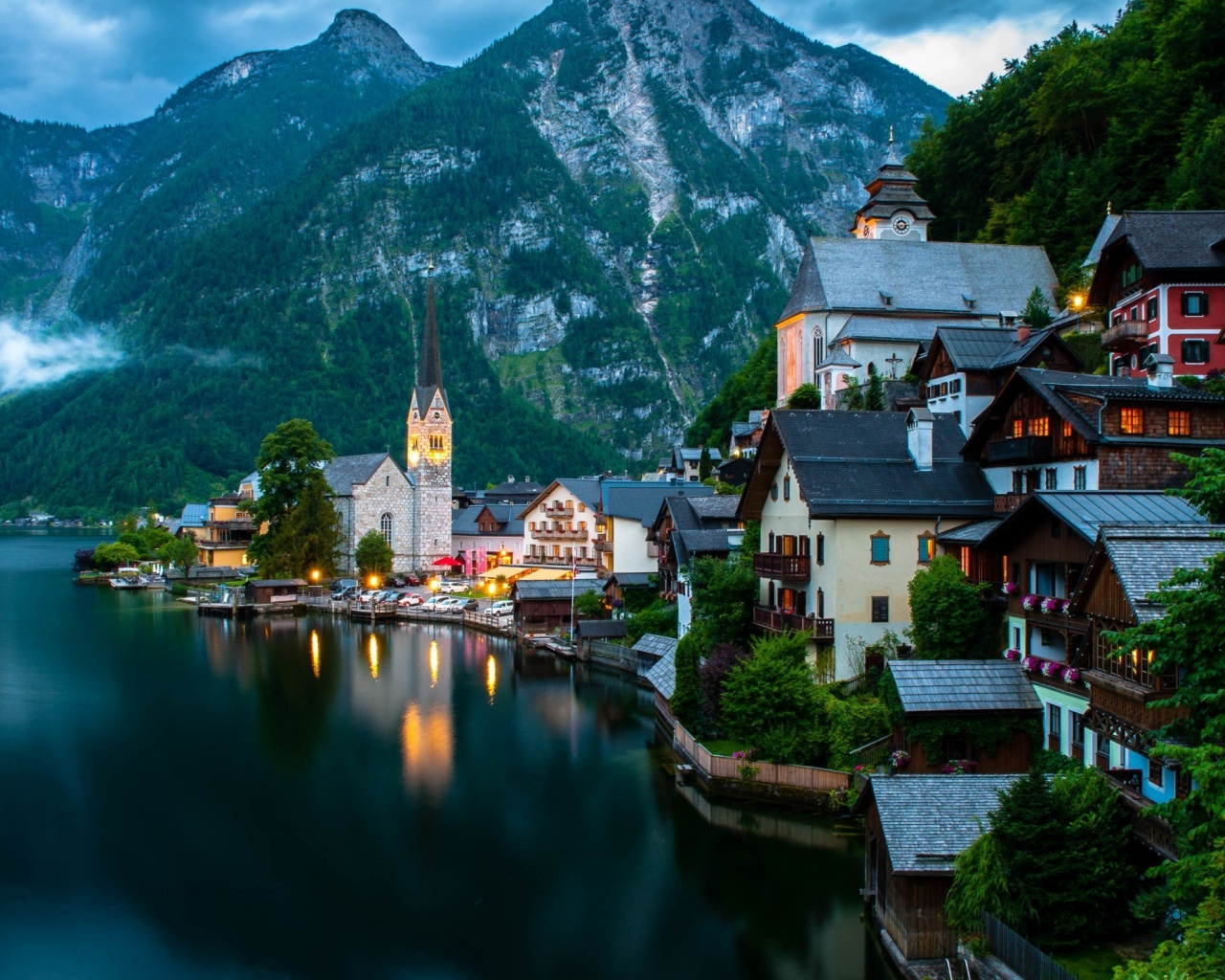 1280x1024 hallstatt austria desktop pc and mac wallpaper
