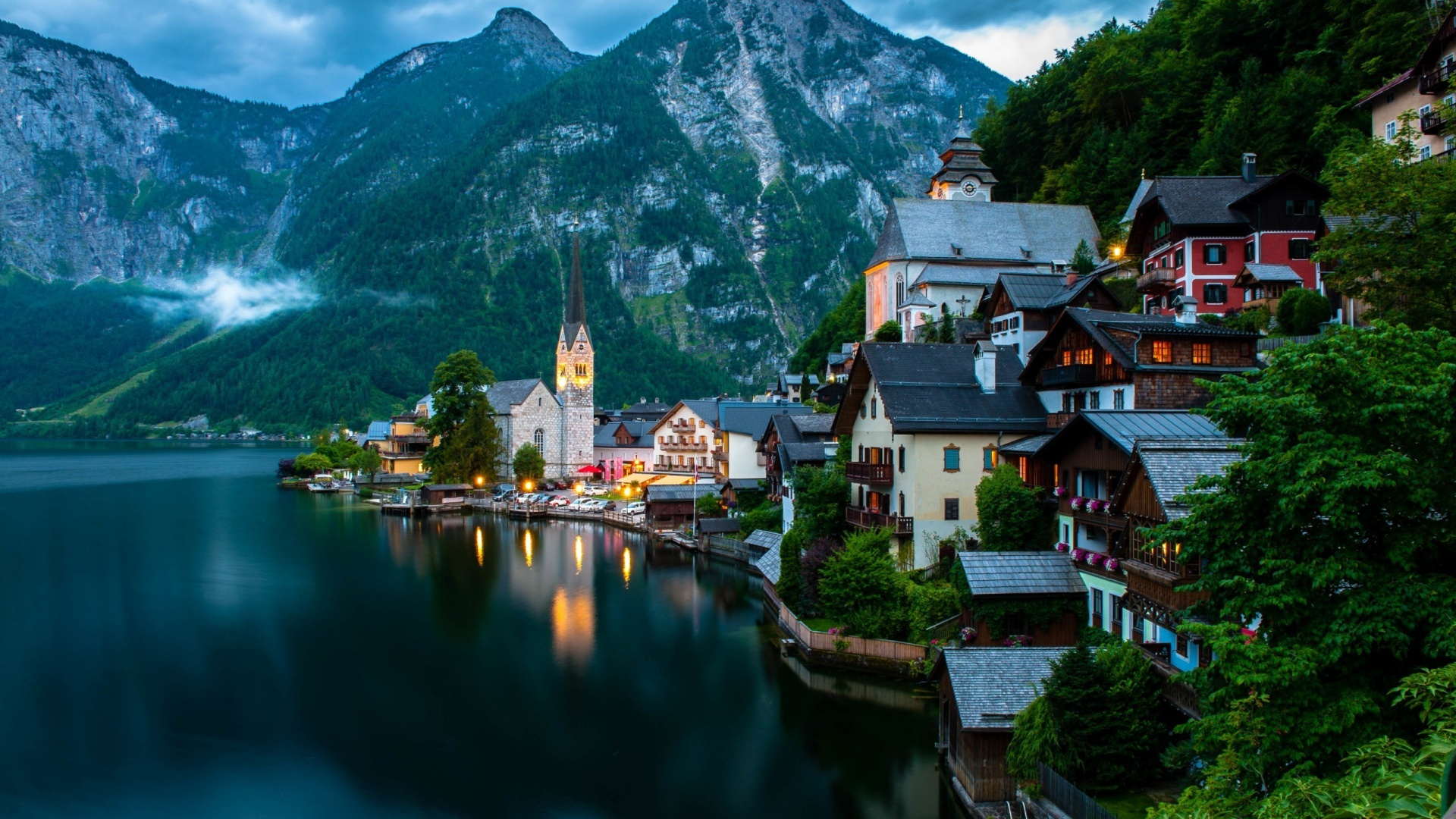 桌面背景1600x900_1920x1080 Hallstatt Austria desktop PC and Mac wallpaper