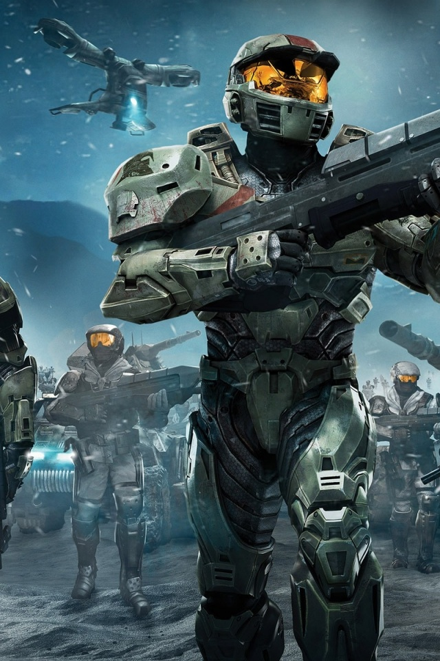 640x960 Halo Wars Spartans Iphone 4 wallpaper