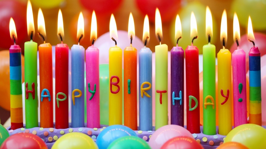 825x315 Happy Birthday Candles Facebook Cover Photo