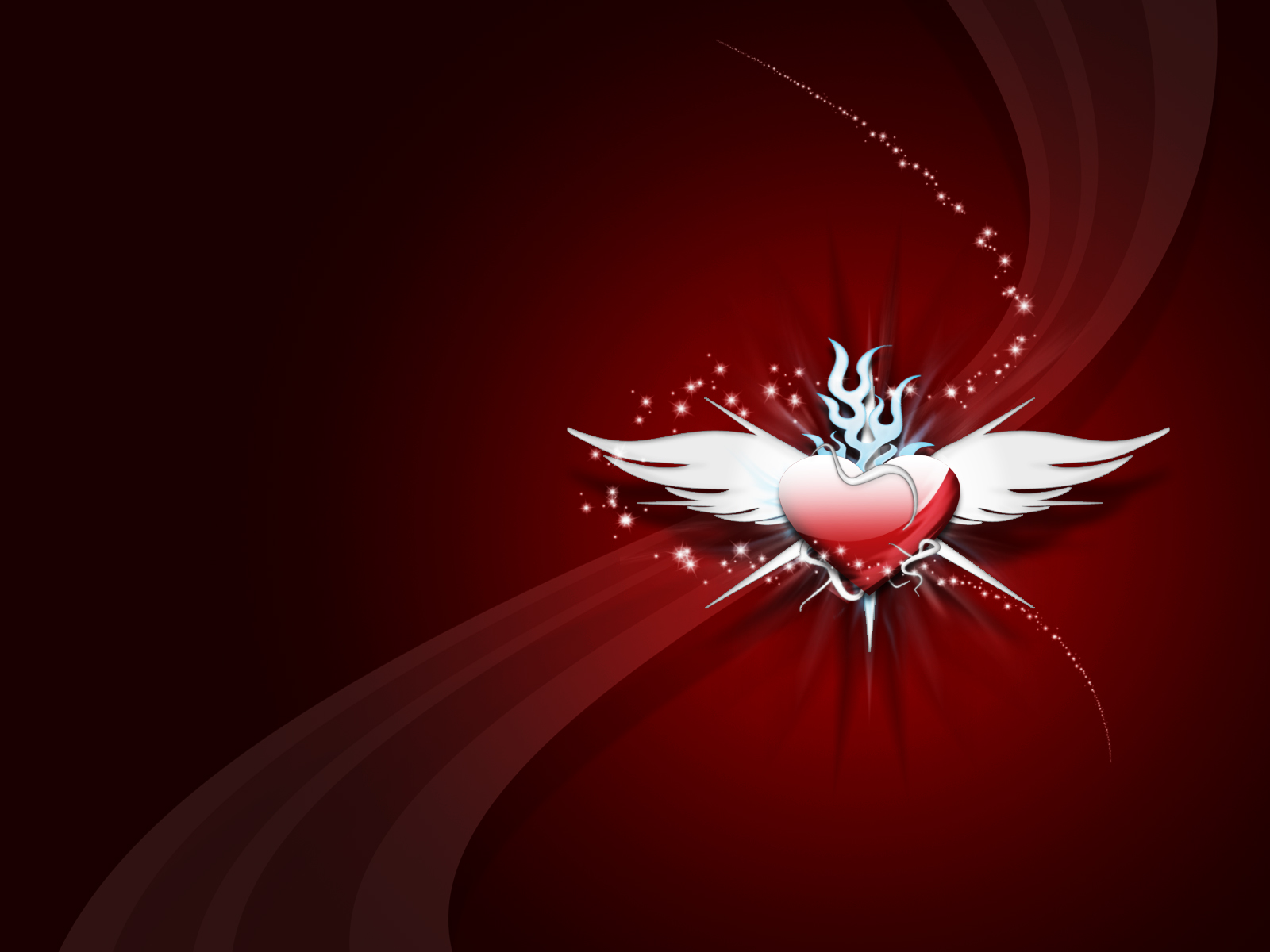 1600x1200 heart with wings desktop pc and mac wallpaper for Wallpaper home is where the heart is