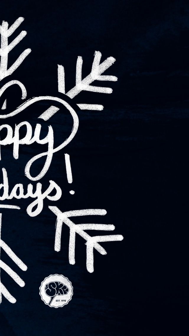 640x1136 Holiday Hand Lettering