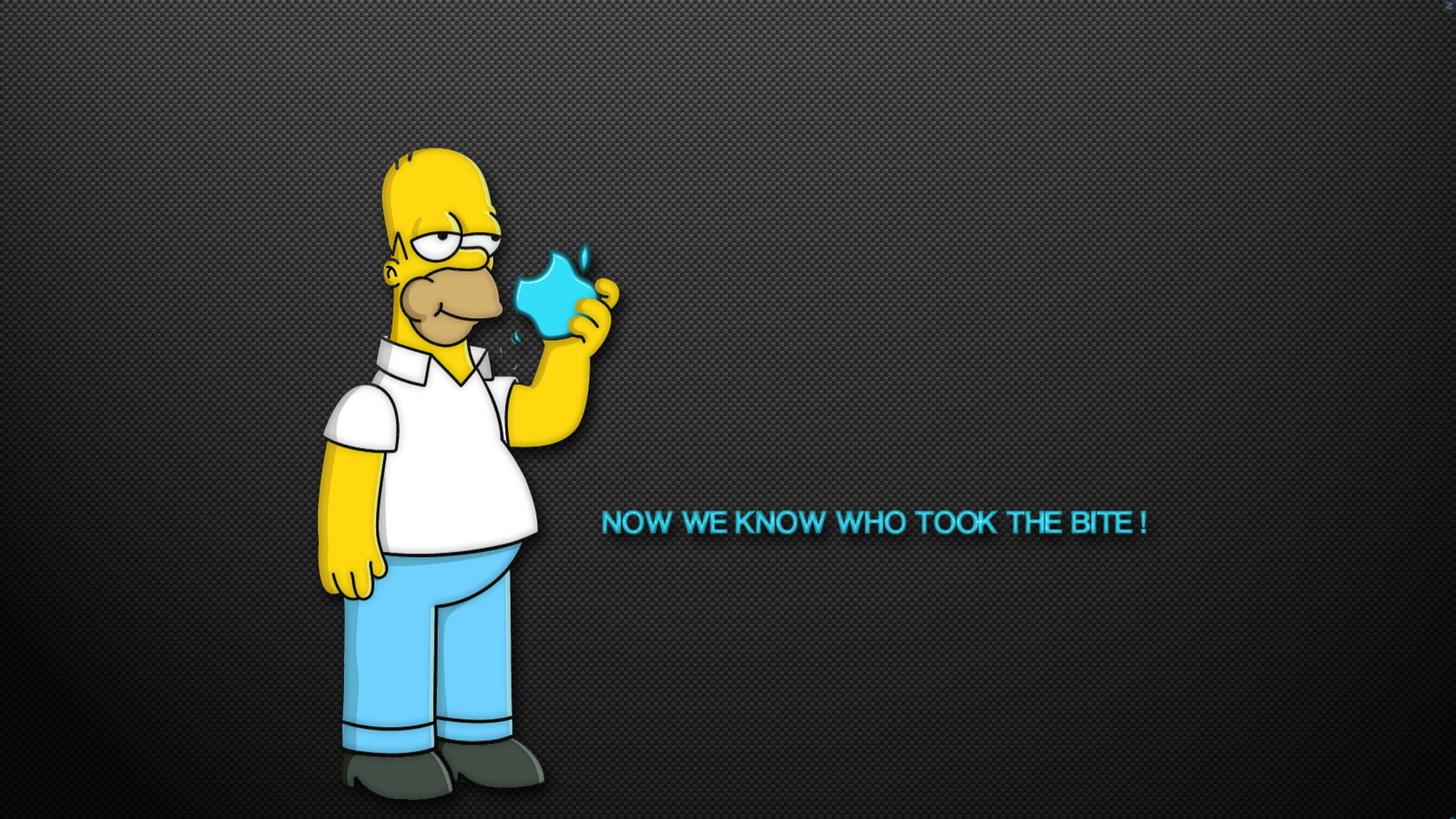 Apple homer wallpapers wallpaper desktop 1920x1080